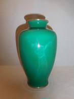 ゴルフスイング七宝花器(佐藤 製) cloisonné enamel vase (SATO)(No9)