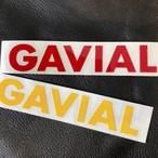"CUTTING STICKER ""GAVIAL"" (RED/YELLOW) / GAVIAL"
