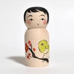 かえでこけし 約2寸 約6.8cm 志田楓 工人(蔵王高湯系)#0005