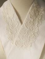 刺繍半衿・白薔薇