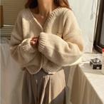 4色 ニット カーディガン ざっくり カジュアル ゆったり レディース ファッション 韓国 オルチャン