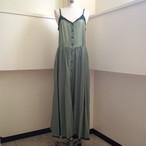 【hippiness】cupro corset dress(green×green)/ 【ヒッピネス】キュプラ コルセット ドレス(グリーン×グリーン)