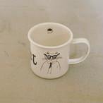 【トラネコボンボン 】ほうろうマグカップ「A柄」