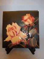 安藤七宝薔薇飾り皿 cloisonne enamel plate(rose)
