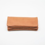 Yezo deer soft wallet tanned brown