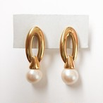 """Monet"" gold & pearl pierce[p-591]"