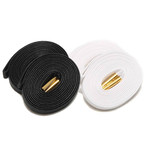 WAXED SHOELACE 2P (BLACK-WHITE/gold)