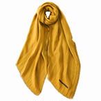 marumasu TENCEL DOUBLE GAUZE / SOLID LINE[yellow]|テンセル100%
