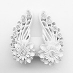 celluloid flower earring[e-605]