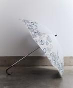 【ビオラ刺繍】晴雨兼用日傘 折りたたみタイプ(ELS50)