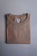 YAECA/ヤエカ  丸胴クルーネックTシャツ CAMEL#89013 レディース