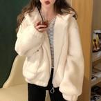 【outer】ファッション無地フード付き合わせやすいコート24179546