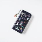 帯無し Amijed+BLUEWHITE手帳型スマホケース ネイビー
