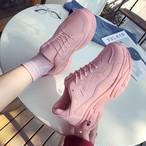 【shoes】スウィート切り替え合わせやすいスニーカー18992736