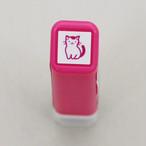 【こどものかお】スケジュールスタンプ浸透印「猫姿・ピンク」