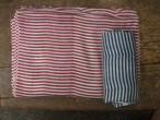 131sr146 stripe wool shawl