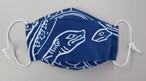【形状と素材変更】キトラ四神手ぬぐいで作った立体マスク 玄武