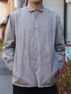 THE HINOKI 高密度コットンブロードのシャツ GRAY