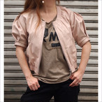 【hippiness】short-sleeved leather blouson/【ヒッピネス】ショートスリーブ レザー ブルゾン