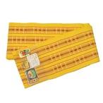 首里道屯織 半幅帯 黄色