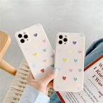 Love heart drop iphone case