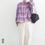 ICHIAntiquites イチアンティークス LINEN VOILE MADRAS CHECK SHIRT リネンボイルマドラスチェックシャツ (品番600108)