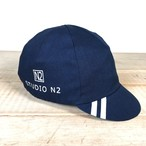 Natural indigo cotton canvas cycle cap Type-4