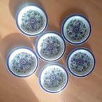3月 ゲーベル Goebel マズルカ ヴィンテージ陶器 6枚セット プレート19.5㎝