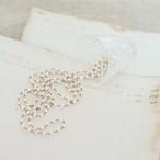 long necklace silk 淡水パール ベージュ1