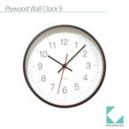 KATOMOKU plywood wall clock 9 km-75BRC 電波時計 ブラウン