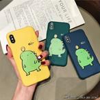 3色 iPhoneケース ★ 可愛い お洒落 恐竜 プリント ペア おそろい iphone 保護 ケース
