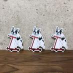 Bull.Tokyo オリジナル ステッカー キックボード犬(パイド)