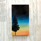 「夜が来る」キャンバスパネル風景画