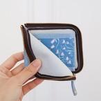 開けてときめく*ブルーグレーの本革財布【眠れる森のクレマチス】