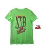 【JTB】蛍光ロゴ Tシャツ【グリーン】イタリアンウェア【送料無料】《W》