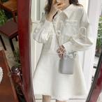 【dress】フェアリーセレブリティ切り替え美しいラインワンピース 23711759