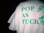 Hokusai Logo Tee White × MintGreen(Glow in the dark)