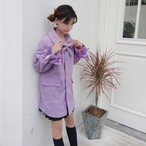 bow girly long coart 3366