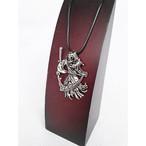 スカル ガイコツ ドクロ 死神 チョーカー ネックレス シルバー 銀 SILVER 1509