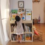 【受注生産品】モンテッソーリの先生と絵本屋さんが作った絵本棚と絵本棚専用の後付けできる棚のセット商品