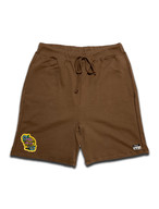 PEACE PATCH ROOM SWEAT SHORTS brown