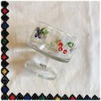 ガラスウェア デザートグラス フルーツ柄 デッドストック