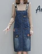 大きいサイズ ♡デニムサロッペットスカート