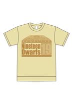 Nineteen Dwarfs Tシャツ ライトイエロー