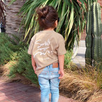 【予約:4/23以降発送】★Kids★ Surf's Up Tee - Sand khaki