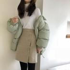 ハイウエスト Aライン ウール スカート 秋冬【1114】