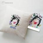 世界に一つのお絵描き刺繍クッションカバー(premium) 40cm×40cm