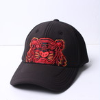 KENZO(ケンゾー) タイガー刺繍 キャップ 帽子 エンブロイダリー ベースボールキャップ ブラック5AC301 FM8 99 r013957