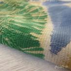 正絹はぎれ ベージュに絞り 松や鶴