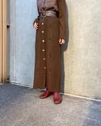 (PAL) front button knit skirt